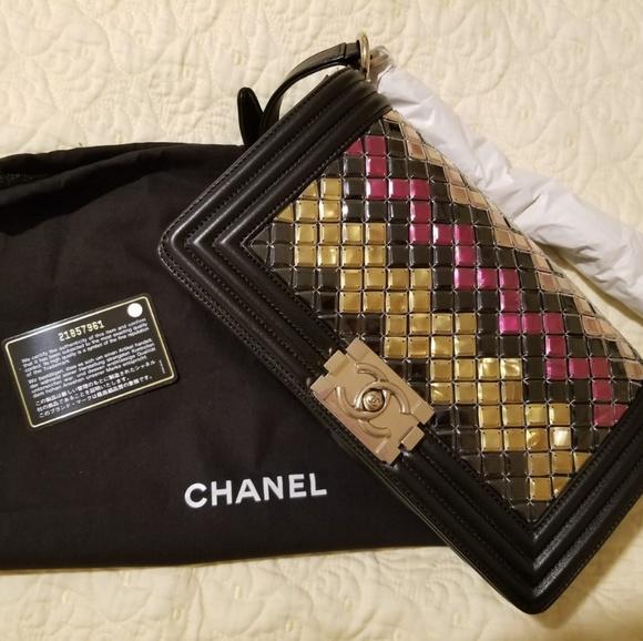 CHANEL Handbags - Chanel mosaic flap boy bag